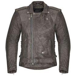 Męska skórzana kurtka motocyklowa -TEC Roguer NF-1127, Czarny, XXL