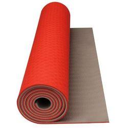 Avento mata do ćwiczeń fitness i jogi w kolorze pomarańcz/beż Darmowa wysyłka i zwroty