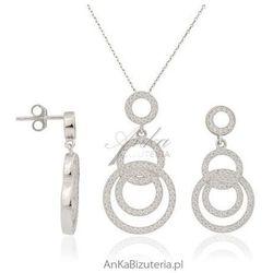 ankabizuteria.pl Komplet microseting - srebro rodowane z cyrkoniami, śliczne