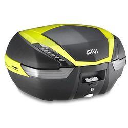 Kufer Givi V47NNTFL (czarny, 47 litrów, szare odblaski, pokrywa karbonowa, dodatki żółte)