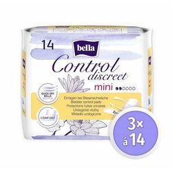 Bella wkładki dla kobiet Control Discreet Mini 3x 14 szt.
