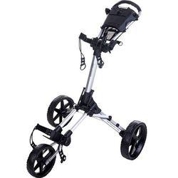 Fastfold Manualny wózek golfowy square (srebrno-czarny) (8719407067593)