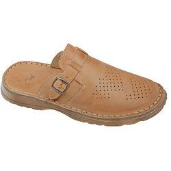 Klapki buty ŁUKBUT 951 Beżowe - Beżowy   Brązowy