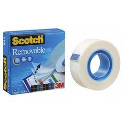 Taśma klejąca Scotch Removable 19mmx33m odklejana