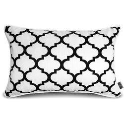 Prostokątna poszewka na poduszkę marokańska koniczyna, biała - We Love Beds