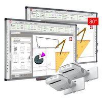 Tablice interaktywne, ZESTAW: 2 x AVTek TT-Board 80 PRO + projektor ultrakrótkoogniskowy EPSON EB680 - AKTYWNA TABLICA