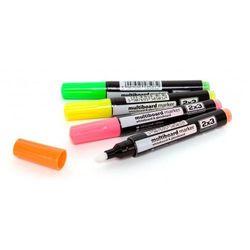 Marker kredowy fluorescencyjny, 4szt.