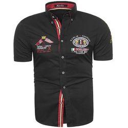 Koszula z krótkim rękawem K1332 - czarna