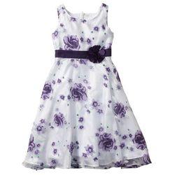Sukienka na uroczyste okazje bonprix bez - ciemny lila