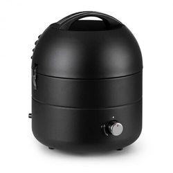 Klarstein DareDevil, grill gazowy BBQ, 2,5 kW, 29 cm średnicy, dla 4 osób, stal, czarny