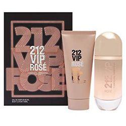 Carolina Herrera 212 VIP Rose, Zestaw podarunkowy, woda perfumowana 80ml + balsam do ciała 100ml