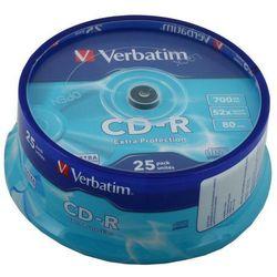 CD-R Verbatim 700MB 25szt.- natychmiastowa wysyłka, ponad 4000 punktów odbioru!
