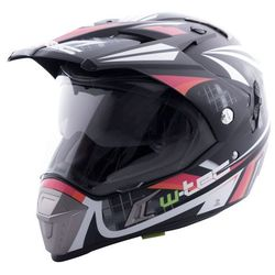 Kask motocyklowy W-TEC NK-311 enduro + BLENDA 2018, Black Orange Shield, XXL (63-64)