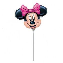 Balon foliowy do patyka - Myszka Minnie - 32 cm