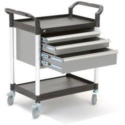 Wózek warsztatowy MOVE, 2 półki, 3 szuflady, 850x480x950 mm