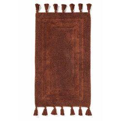 Dywaniki łazienkowe tuftowane z frędzlami bonprix brązowy