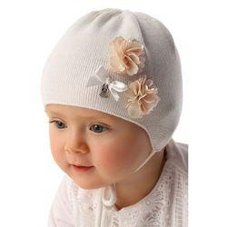 Czapka niemowlęca biała 5X34B3 Oferta ważna tylko do 2019-06-26