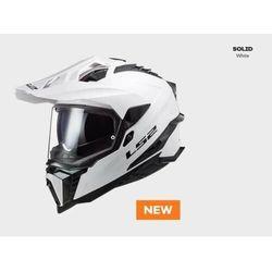 KASK MOTOCYKLOWY ENDURO OFF ROAD KASK LS2 MX701 EXPLORER SOLID WHITE nowość 2021 roku