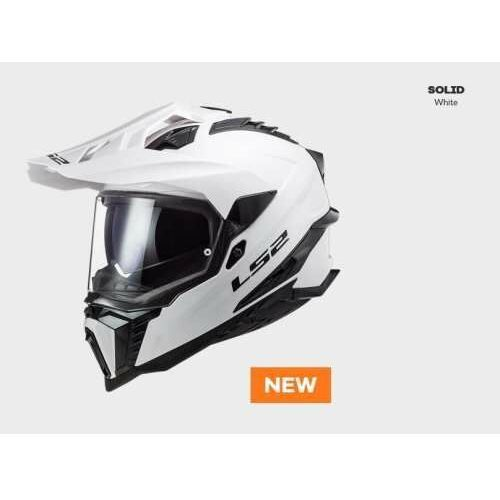 Kaski motocyklowe, KASK MOTOCYKLOWY ENDURO OFF ROAD KASK LS2 MX701 EXPLORER SOLID WHITE nowość 2021 roku