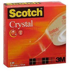 Taśma samoprzylepna Scotch Crystal Clear 600, przezroczysta, w pudełku, 19mm x 33m