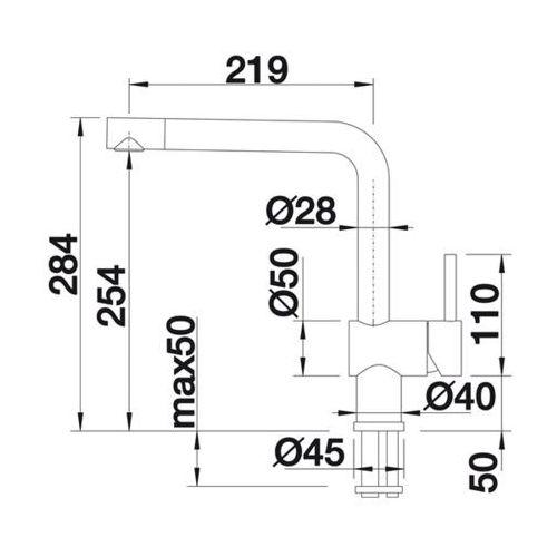 Baterie do kuchni, Bateria Blanco Linus 516703