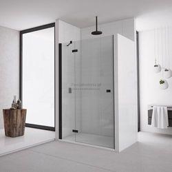 Sanswiss Annea drzwi do wnęki ze ścianką stałą uchylne 80 cm lewe czarne AN13G08000607