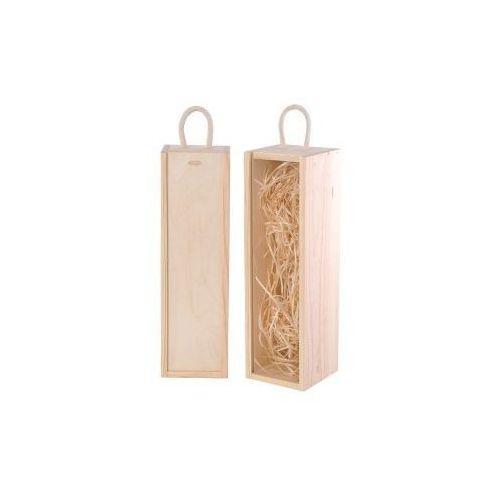 Ozdobne pudełka, V1 skrzynka upominkowa naturalna - skrzynka do wina