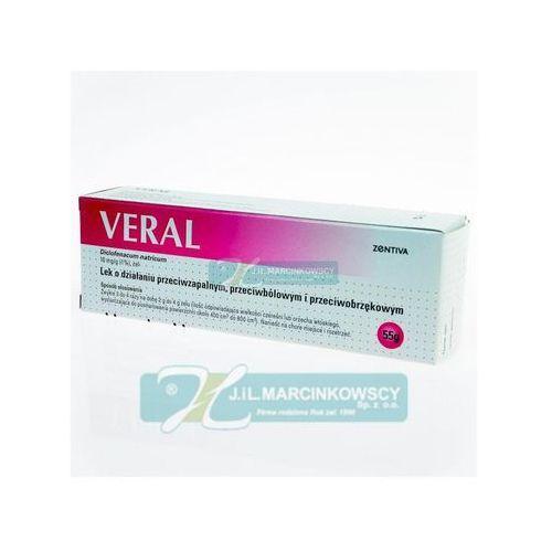 Pozostałe leki, Veral żel 1% 55g