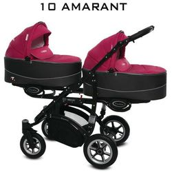 BABYACTIVE Twinni Premium Głęboko Spacerowy 10 Amarant DARMOWA DOSTAWA!!!!!! DARMOWA DOSTAWA!!!!!!!!!!!