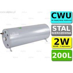 Bojler JOULE Cyclone 200L poziomy 2W 2-wężownice nierdzewka wymiennik podgrzewacz CWU Wysyłka GRATIS