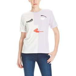 koszulka BENCH - Abstract Face Colourblock Tee Orchid Petal (PU070) rozmiar: S