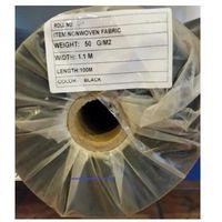 Folie i agrowłókniny, Agrowółknina ściółkujaca PP 50 g/m2 czarna 1,1 x 100 mb. BEZ UV.Rolka o wadze 8,6 kg.