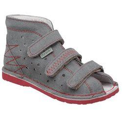 Kapcie profilaktyczne buty DANIELKI T105 T115 Szary+Czerwony - Szary ||Czerwony