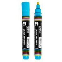 Markery, Marker kredowy niebieski (12szt) EASY