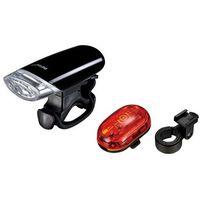 Oświetlenie rowerowe, Zestaw lampek Infini Luxo & Vista, bateryjne