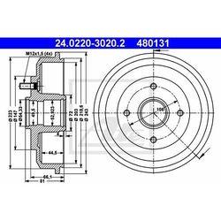 BĘBEN HAM ATE 24.0220-3020.2 FORD FOCUS 1.6 16V, 1.8TDDI 98-04, 1.8TDCI 01-04, 1.4 16V 98-04