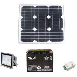 Autonomiczny zestaw oświetleniowy z naświetlaczem LED 10W DC12V z wył. zmierzchowym
