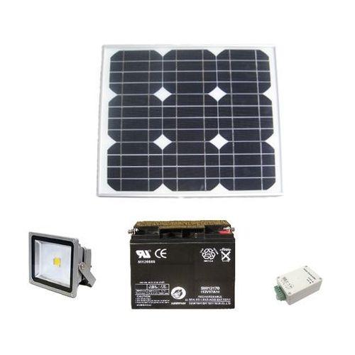 Baterie słoneczne, Autonomiczny zestaw oświetleniowy z naświetlaczem LED 10W DC12V z wył. zmierzchowym