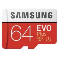 Karty pamięci, Samsung karta pamięci EVO+ microSDXC 64GB Class 10 UHS-I Odczyt:Zapis 80/20MB/s