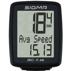Licznik rowerowy SIGMA BC 7.16 Przewodowy - 07160- Zamów do 16:00, wysyłka kurierem tego samego dnia!