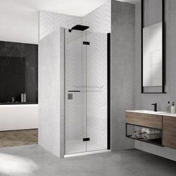Sanswiss Solino F drzwi do wnęki składane 80 cm prawe czarne SOLF1D08000607