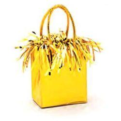 Obciążnik do balonów napełnionych helem Mini torebka prezentowa żółta - 178 g.
