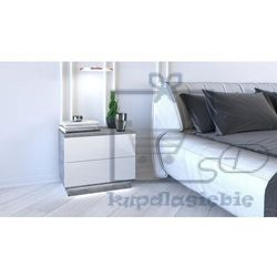 Szafka nocna Sonja + Led beton mat/biały połysk
