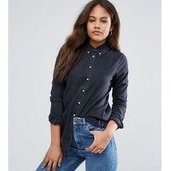ASOS DESIGN Tall denim shirt in washed black - Black