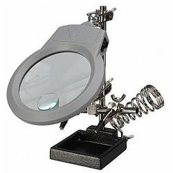 Velleman UCHWYT POMOCNICZY Z LUPĄ, LAMPĄ LED I PODSTAWKĄ POD LUTOWNICĘ