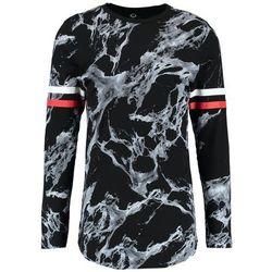 Jack & Jones JCOANTHEM CREW NECK SLIM FIT Bluzka z długim rękawem black print
