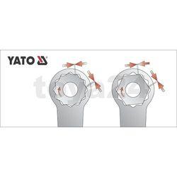 Klucz oczkowy odgięty z polerowaną główką 14x15 mm Yato YT-0387 - ZYSKAJ RABAT 30 ZŁ