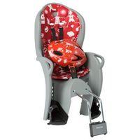 Foteliki rowerowe, Fotelik HAMAX Kiss + kask czerwony-szary / Montaż: tył
