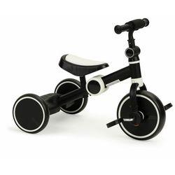 Rowerek trójkołowy, biegowy, z pedałami, składany, 2w1, czarny