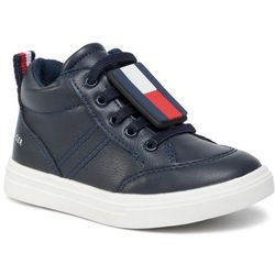 Sneakersy TOMMY HILFIGER - High Top Lace-Up Sneaker T1B4-30495-0741800 Blue 800